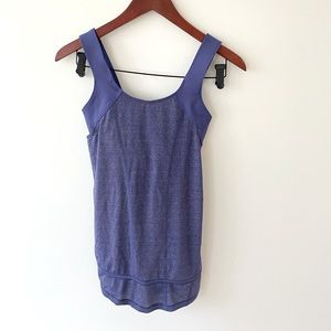 Purple sinched tank top